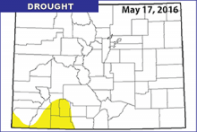 Drought Map - May 17, 2016