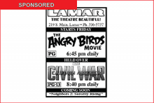 Lamar Theatre Ad - June 3, 2016