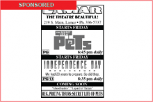 Lamar Theatre Ad - July 22, 2016