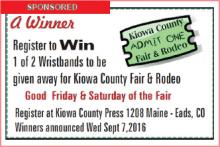 Kiowa County Fair - Register to Win