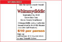 Take the Kiowa County Transit Van to Whimmydiddle