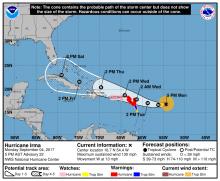 MAP - Hurricane Irma - September 4, 2017