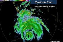 MAP - Hurricane Irma 200 miles south of Naples, Florida - NWS