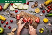 PROMO - Cooking at Home - cutting vegetables