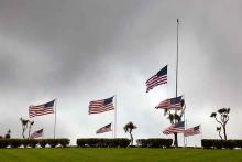 Remembering - Flags at Half Staff