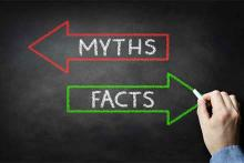PROMO 64J1 Miscellaneous - Chalkboard Myths Facts Fake News - iStock - BrianAJacson