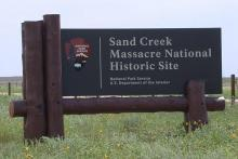 PROMO 64J Logo - Sand Creek Massacre National Historic Site Sign - Jeanne Sorensen