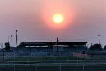 PROMO 660 x 440 Miscellaneous - Kiowa County Fairgrounds Grandstand Smoky Sunset - Chris Sorensen