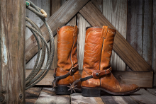 PROMO 660 x 440 Miscellaneous - Rodeo Boots Rope Barn Wood - iStock