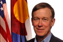 PROMO 660 x 440 Politician - John Hickenlooper Colorado Governor Flags