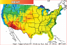 Hot Weather - Map