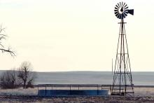 PROMO Agriculture - Windmill Stock Tank Prairie Sillhouette - Chris Sorensen