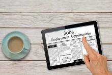 PROMO 64J1 Business - Job Search Employment Finance Tablet Coffee - iStock - Pixsooz