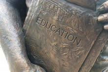 PROMO 64J1 Education - Academics School Book Statue Bronze - flickrcc - Alan Levine - public domain