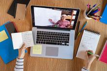 PROMO Education - Technology Video Conference School Teleconference Computer Teacher Student Notes - iStock - Ridofranz