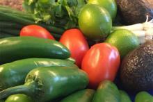 PROMO 64J1 Food - Vegetable TexMex Jalapeno Tomato Lime Cillantro Avacado Onion - flickrcc - Jonathan Cutrer - public domain