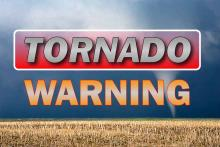 PROMO Graphic - Weather Tornado WARNING - Chris Sorensen