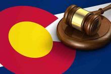 PROMO 64J1 Legal - Court Law Colorado Flag Gavel Justice Crime - iStock - NiroDesign