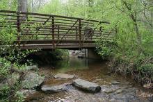 PROMO 64J1 Outdoors - Bridge Stream Water Trees Rocks - flickrcc - USGS - public domain