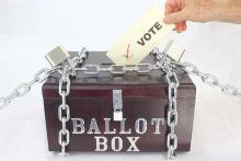 PROMO Politics - Election Vote Ballot Security Lock Chain - iStock - viavado