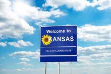 PROMO 64J1 States - Road SIgn Kansas Sunflower - iStock - Lady-Photo
