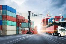 PROMO Transportation - Semi Truck Airplane Forklift Cargo Ship Containers Road Port - iStock - Tryaging