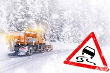PROMO 64J1 Weather - Snow Snowplow Driving Icy Slick Road Danger Ice - iStock - auerimages