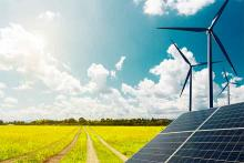 Energy - Solar Panel Wind Turbine Field Agriculture Farm - iStock - undefined underfined