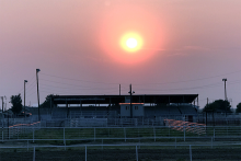 PROMO 660 x 440 Miscellaneous - Kiowa County Fairgrounds Grandstand Smoky Sunset - Chris Sorensen