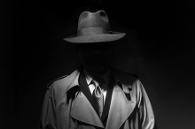 PROMO 660 x 440 Miscellaneous - Mystery Man Trench Coat Hat - iStock - cyan066
